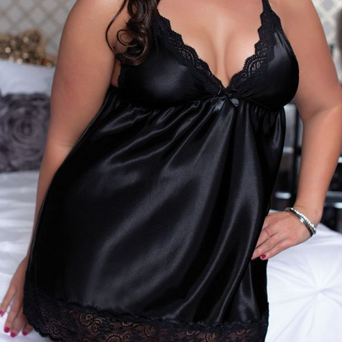 Babydoll Queen black 75981 MyFetishCandy