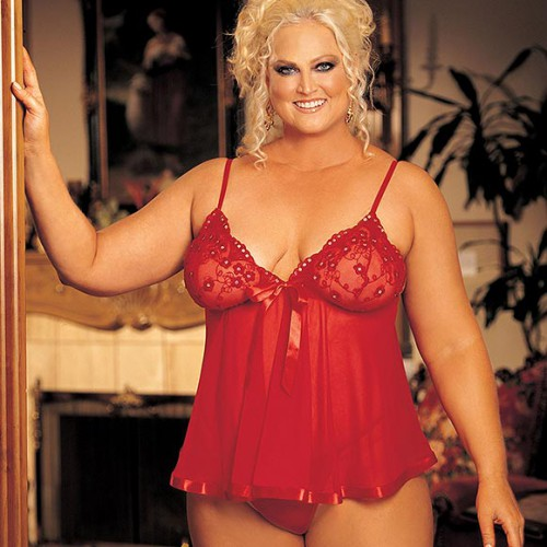 Babydoll Queen mini rood 20736 MyFetishCandy