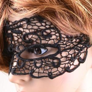 Masker Gothic zwart kant LC0350-1