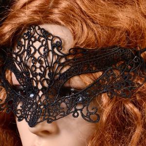 Masker Gotham zwart kant LC0355