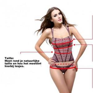 Opmeten taille voor corset shapewear