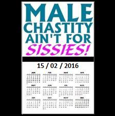 Male Chastity Day 15-02-2016 MyFetishCandy